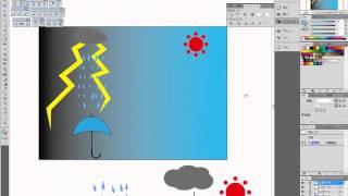 illustrator(イラストレーター)使い方基礎講座・右は快晴、左は嵐2