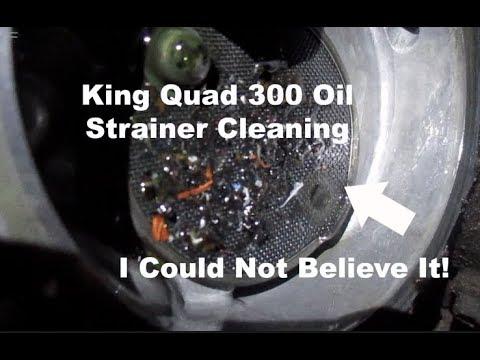 How To: Suzuki King quad 300/Quadrunner Oil Strainer Cleaning