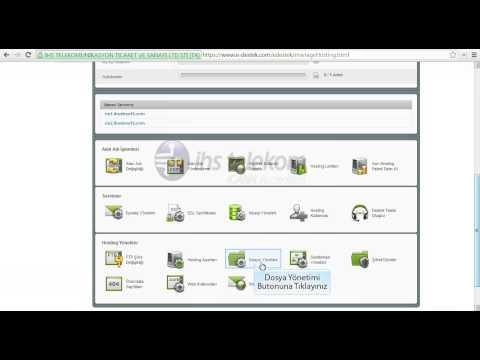 Hosting Dosya Yönetimi Dosya Upload Etme - IHS TELEKOM