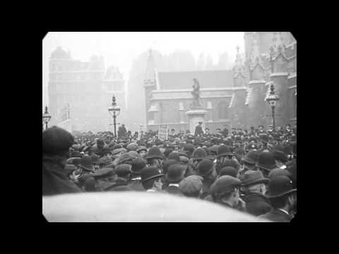 Nov 18, 1910 - Suffragette Riot in Westminster, London (speed corrected w/ added sound)