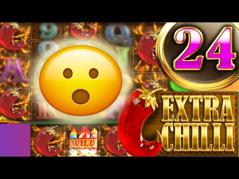 EXTRA CHILLI 🌶 SLOT SUPER BIG WINS 🔥 24 FREE SPINS HUGE PROFIT RED CHILLIS ALL THE WAY OMG‼️