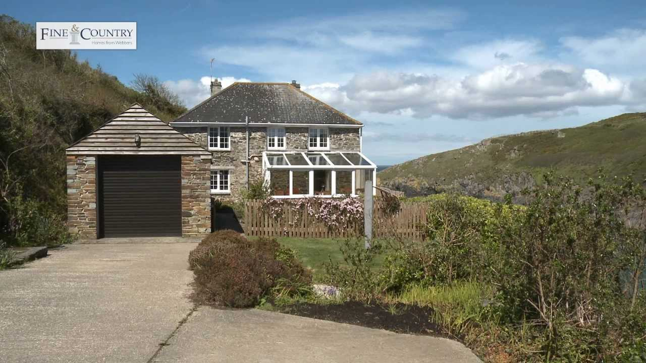 port quin farmhouse near port isaac cornwall property for sale youtube