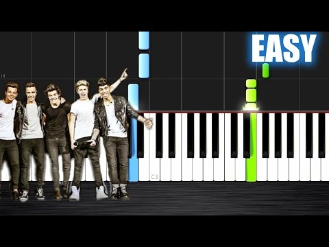 One Direction - What Makes You Beautiful - EASY Piano Tutorial By PlutaX - Synthesia