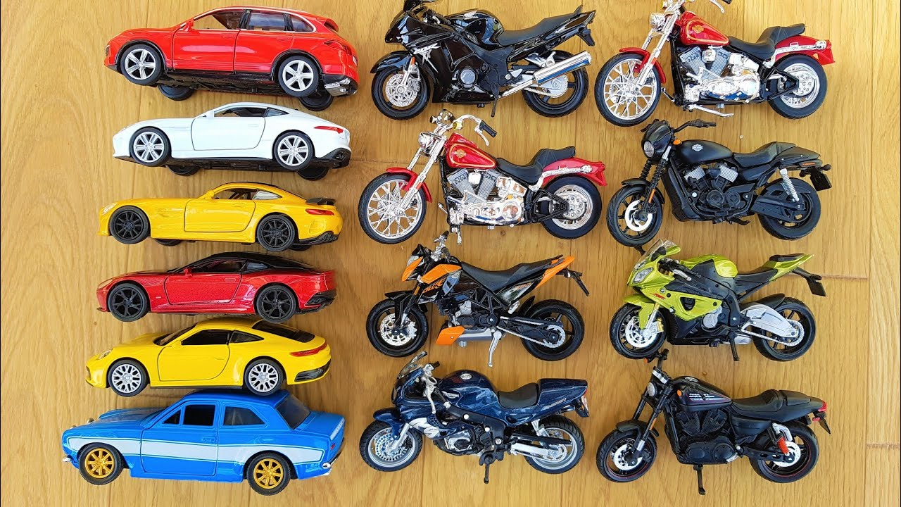 Die cast Metal Scale Model Welly Cars and Maisto Motorcycles and Fast and Furious Cars Unboxig