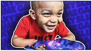 GALAXY SLIME DIY | SUPER SQUISHY & SOFT | THE PRINCE FAMILY
