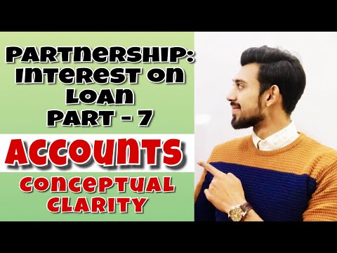 Fundamentals : Interest on loan   partnership   Accounts   Class 12   part - 7