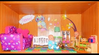 Baby Nursery In Our American Girl Dollhouse!