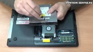 инструкция по замене памяти и DVD RW привода  ноутбука Samsung NP300