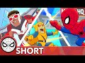 Spidey & Falcon Take Turns! Marvel Super Hero Adventures - You Go High, I'll Go Low   SHORT
