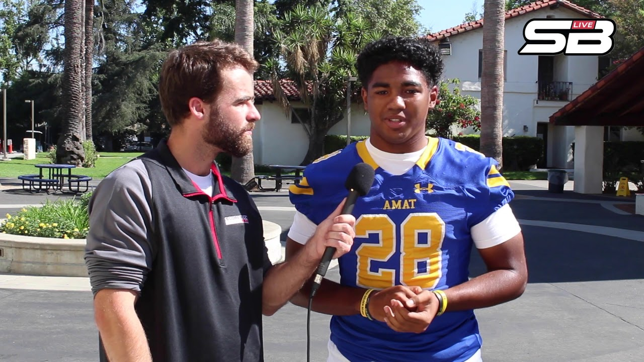 Bishop Amat running back Damien Moore answers 4 questions with Scorebook Live California