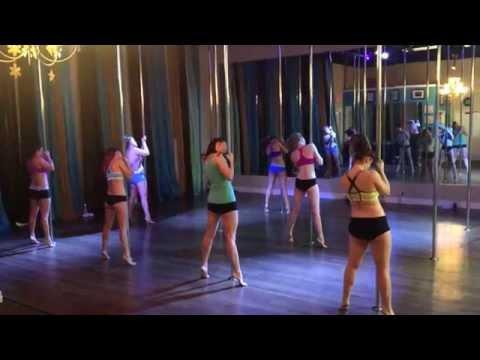 Elastic Heart - Sia Beginner/Intermediate Pole Dance Routine 1-19-15