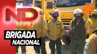 La batalla contra los incendios de Córdoba: llegaron los brigadistas que envió Nación