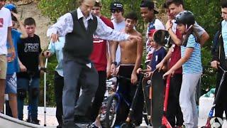 Дед скейтер Пранк / Grandfather skateboarder Prank