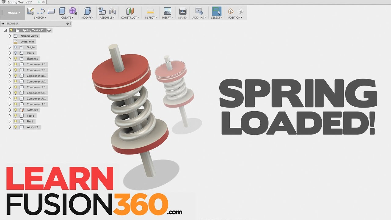 Model a WORKING Spring in Fusion 360! (ADVANCED TIP)