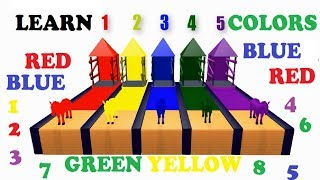 Learn Colors with Animals for Children - Learning Colors with COW - Cartoons Animation