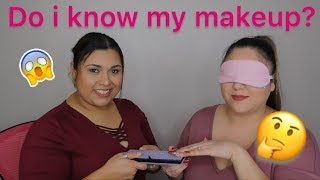 DO I KNOW MY MAKEUP? | BLINDFOLD CHALLENGE