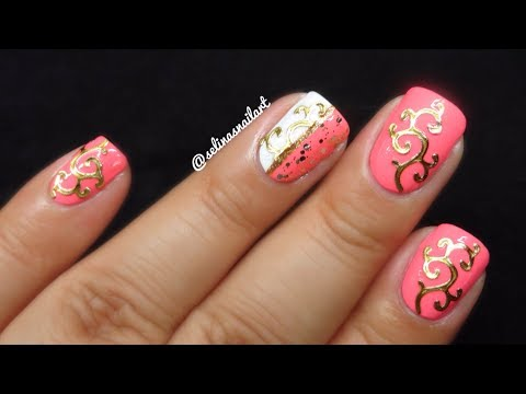 Pink gold nail art born pretty store review youtube pink gold nail art born pretty store review prinsesfo Images