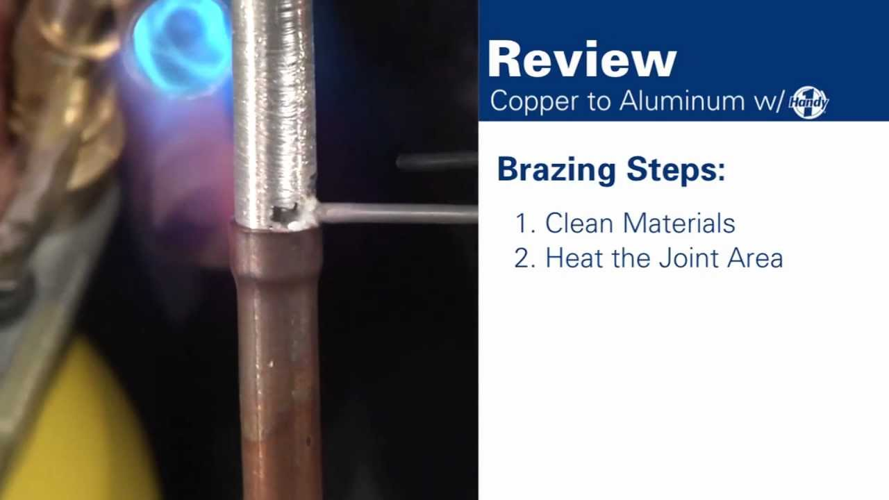 How To Braze Aluminum To Copper Youtube