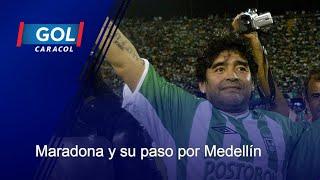 ¡Qué honor! Diego Armando Maradona y su paso por el Atanasio Girardot, en Medellín