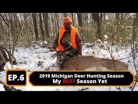 2019 Michigan Deer Hunting Ep. 6 - Tagged Out On A HUGE Whitetail Deer With My Bushmaster 450