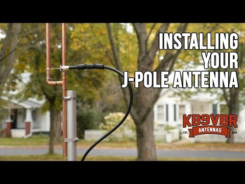 Installing the KB9VBR J-Pole Antenna - YouTube