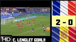 C. LENGLET GOAL !!! FRANCE vs ANDORRA 2-0