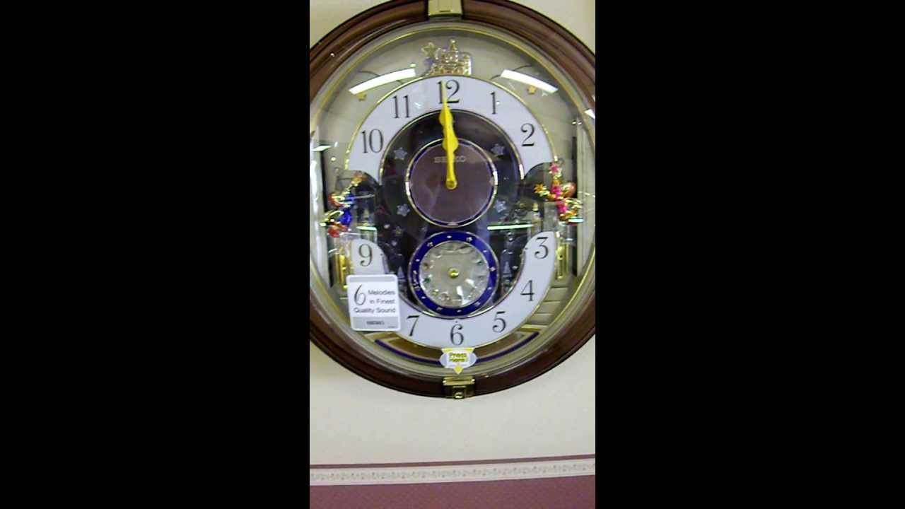 Seiko melodies in motion angels stars wall clock youtube seiko melodies in motion angels stars wall clock amipublicfo Images