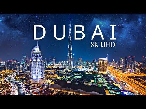 Dubai, UAE 🇦🇪 8K UHD at Night Drone Cinematic Footage