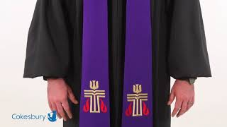 Purple Presbyterian Liberty With Gold Braid Stole