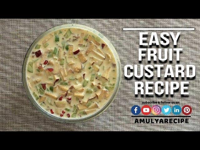 Fruit Custard Recipe | Easy Dry Fruit Custard Recipe