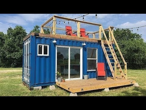 rustic retreat the single 20 foot shipping container tiny home youtube. Black Bedroom Furniture Sets. Home Design Ideas