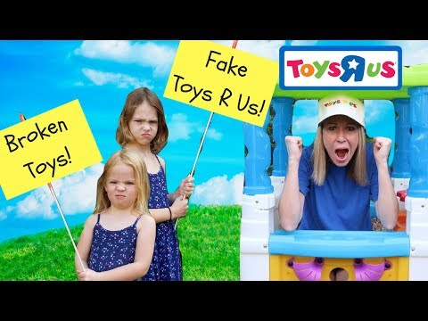 PRANK Fake Toys R US Store !!! ~ Kid Video w/ Addy and Maya ~