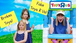 Pretend Toy Store Kid's Video Starring Addy and Maya !!! thumbnail