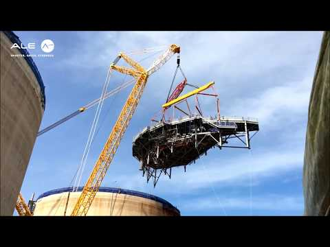 Lifting and installation of two LPG tank platforms