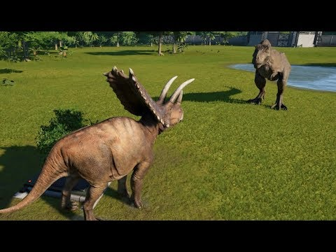 Pentaceratops(Modified) VS T-Rex, I-Rex, Suchomimus, Spinosaurus and Carnotaurus - JWE Mp3