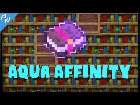 MINECRAFT : Aqua Affinity Enchantment
