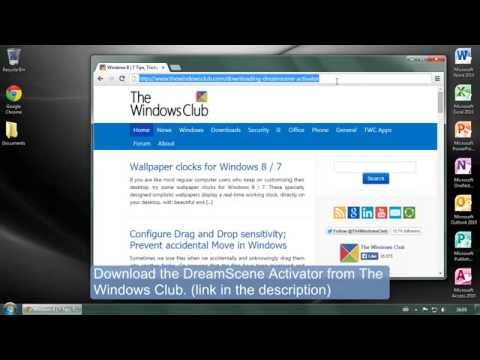 How To Set A Live Wallpaper Video As Background In Windows 7 For Free