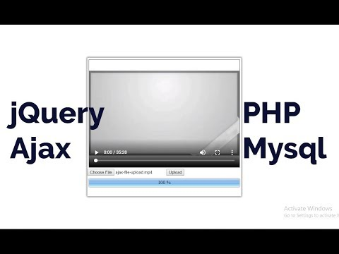 Large File (Video) Upload with Progress bar using jQuery Ajax and PHP