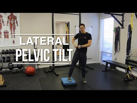 Can you do exercises to fix lateral pelvic tilt due to a leg length discrepancy?