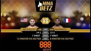 UFC Velasquez vs Ngannou: Sarps speltips