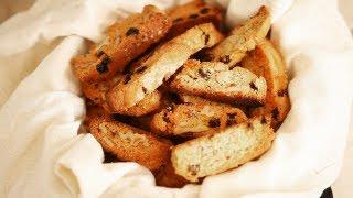 Biscottis Aux Raisins Et Aux Noix