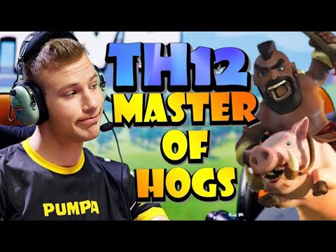Secrets To TH12 MASS HOG ATTACK STRATEGY From The MASTER! BEST TH12 Attack Strategies In CoC!