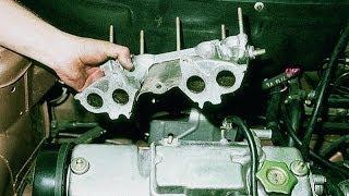 видео Как снять выпускной коллектор на ВАЗ-2114 8 клапанов инжектор