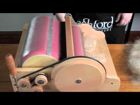 Carding Fleece On An Ashford Drum Carder