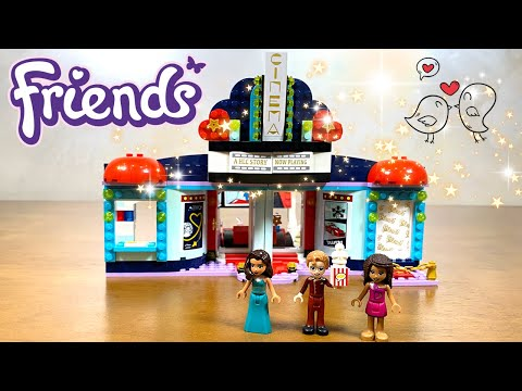 Lego Friends 2021 Heartlake City Movie Theater (Cinema) 41448 Speed Build Review