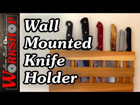 Build a wall mounted knife holder (and save your counter space)