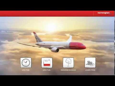 Norwegian 787 Dreamliner Inflight Welcome Video