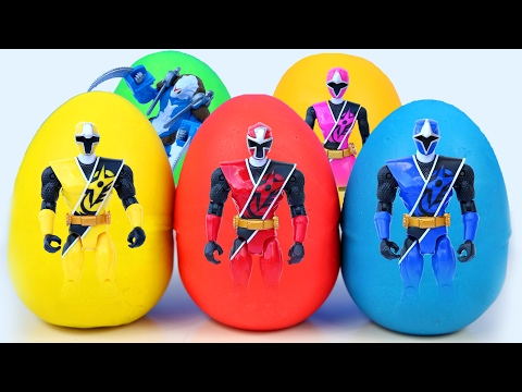 Power Rangers Play Doh Surprise Eggs Power Rangers Movie 2017 Modelling Clay