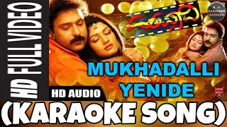Mukhadalli Enide Kannada Karaoke Song Original with Kannada Lyrics
