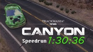 TrackMania² Canyon Speedrun in 1:30:36